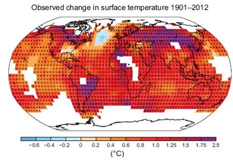 A elevação da temperatura é desigual no mundo e o  Brasil é um dos países mais afetados
