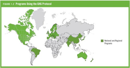 Programas usando GHG Protocol no mundo