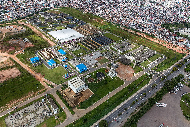Vista aérea da fábrica Aquapolo/ Divulgação